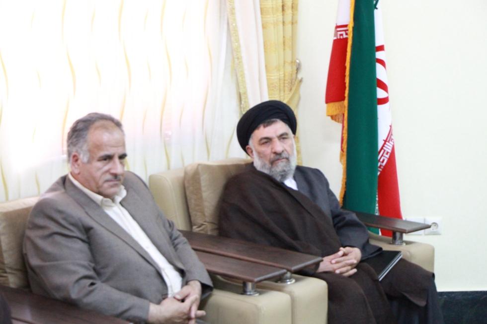 مسئول حوزه نمايندگي ولي فقيه در جهاد كشاورزي استان با فرماندار ديدار كرد